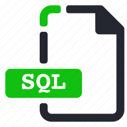 data, database, extension, file, sql icon