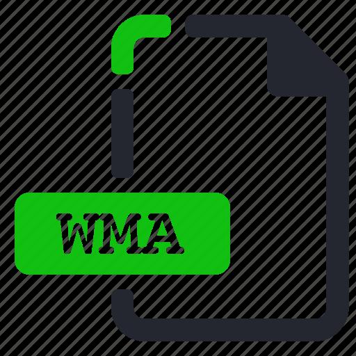audio, extension, file, wma icon