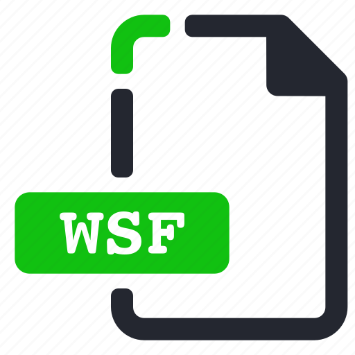 executable, extension, file, wsf icon