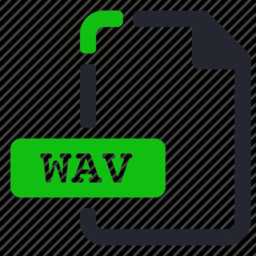 audio, extension, file, wav icon