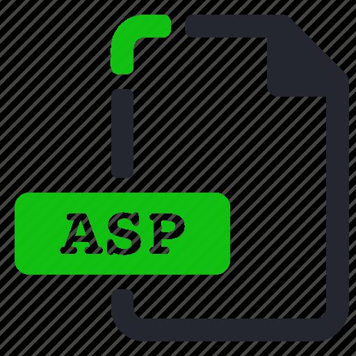 asp, extension, file, internet icon