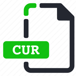 cur, extension, file, system icon