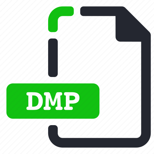 dmp, extension, file, system icon