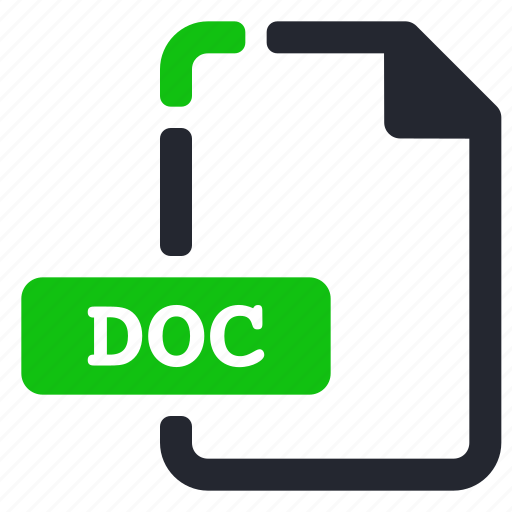 doc, extension, file, processor, text, word icon