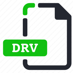 drv, extension, file, system icon