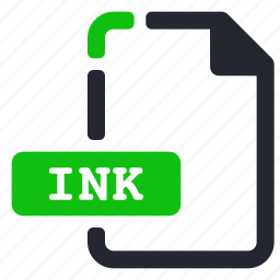 extension, file, ink, system icon