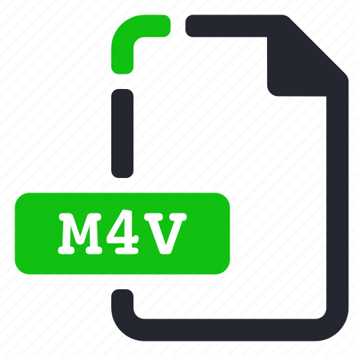 extension, file, m4v, video icon