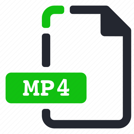 extension, file, mp4, video icon