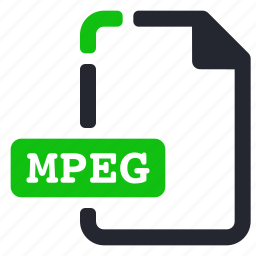 extension, file, mpeg, video icon