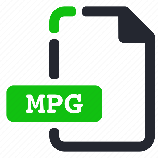 extension, file, mpg, video icon