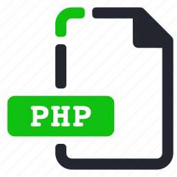 extension, file, internet, php icon