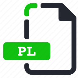 extension, file, internet, pl icon
