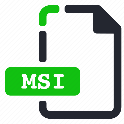 extension, file, msi, system icon