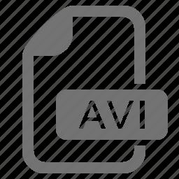 avi, document, extension, file, format, media, video icon