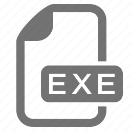 application, document, exe, executable, extension, file, format icon
