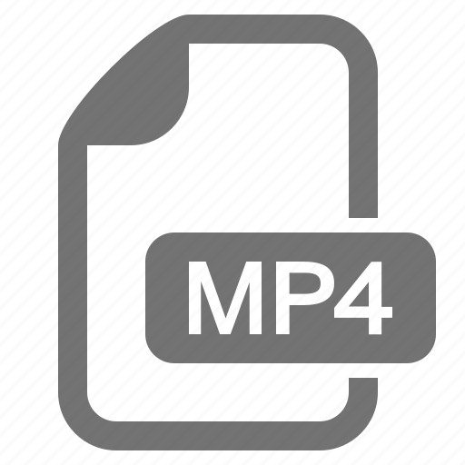 compressed, document, extension, file, format, mp4, video icon