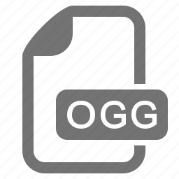 audio, document, extension, file, format, media, ogg icon