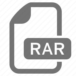 archive, data, document, extension, file, format, rar icon