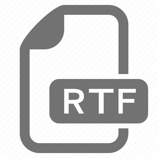 document, extension, file, format, rtf, text icon