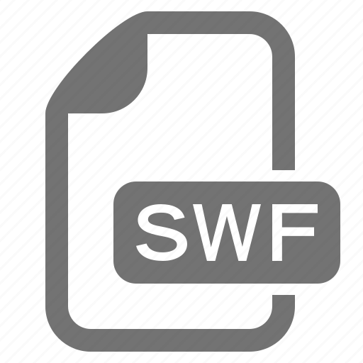 document, extension, file, flash, format, media, swf icon
