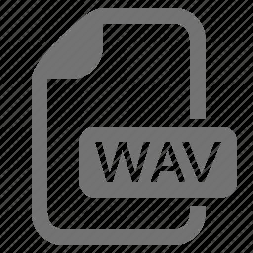 audio, document, extension, file, format, media, wav icon