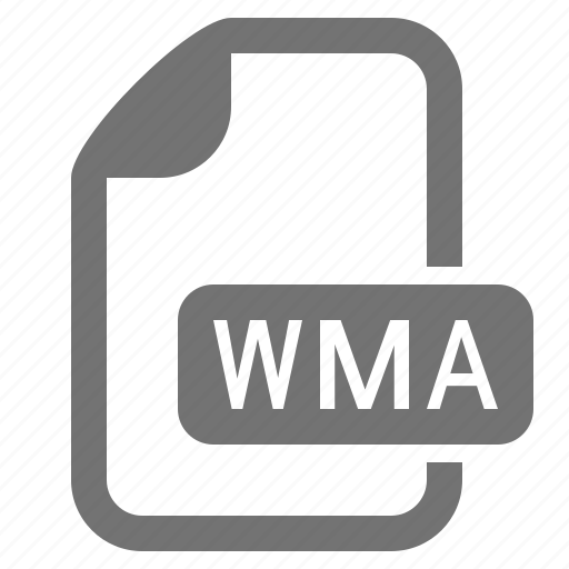 audio, document, extension, file, format, media, wma icon