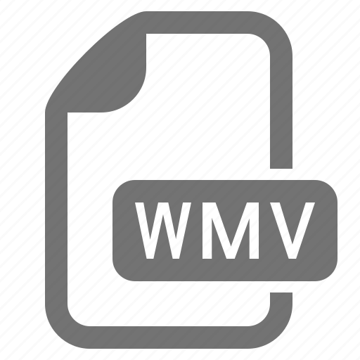 document, extension, file, format, media, video, wmv icon