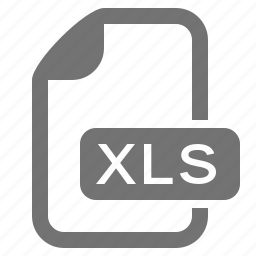 document, extension, file, format, spreadsheet, table, xls icon