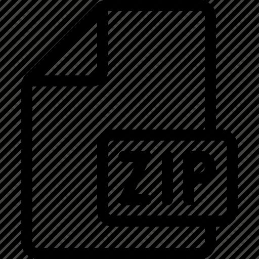 Archive, document, file, zip icon