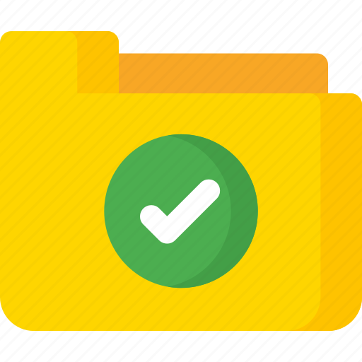 Checked, folder, approved, document, extension, file, paper icon - Download on Iconfinder