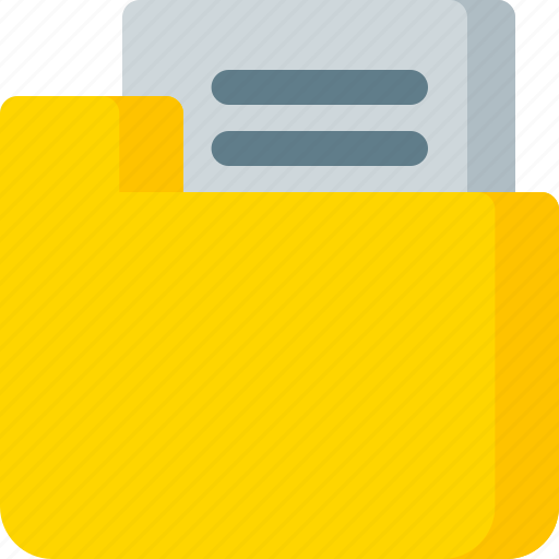 document, extension, file, folder, paper icon