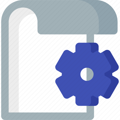 document, extension, file, folder, paper, setting icon