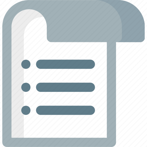 Alignment, extension, list, paper, file, folder, document icon