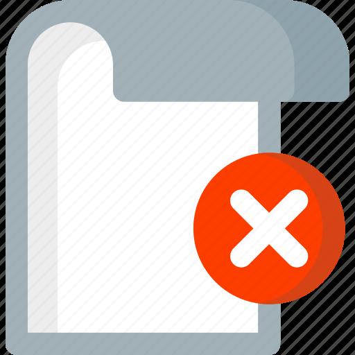 delete, document, extension, file, folder, paper, remove icon