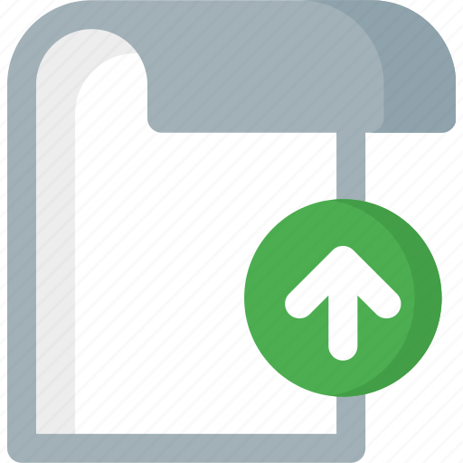 document, extension, file, folder, paper, upload icon