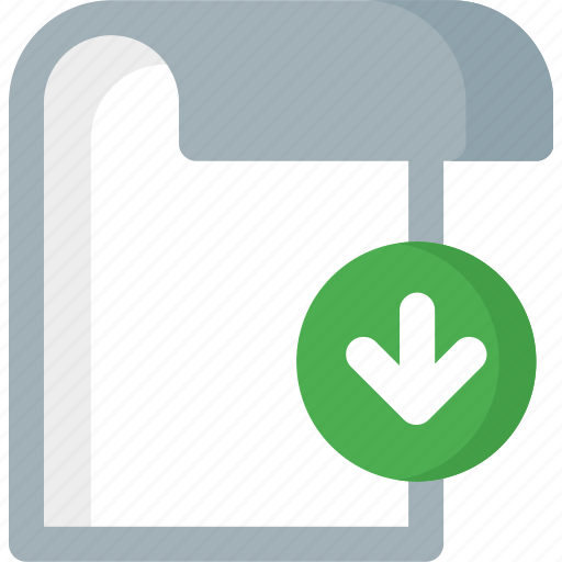 document, download, extension, file, folder, paper icon