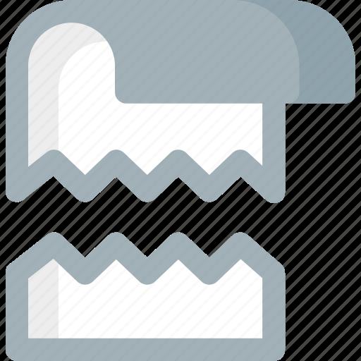 crack, document, extension, file, folder, paper icon