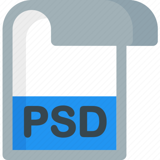 document, extension, file, folder, paper, psd icon