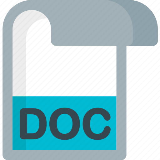 doc, document, extension, file, folder, paper icon
