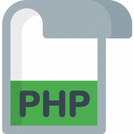 document, extension, file, folder, paper, php icon