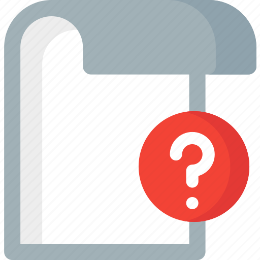 document, extension, file, folder, help, paper, question icon