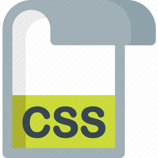 css, document, extension, file, folder, paper icon