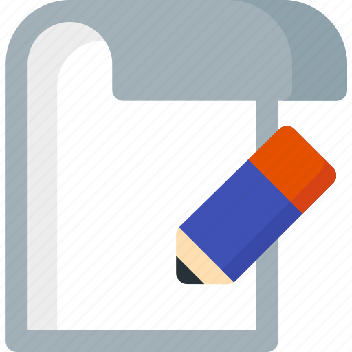 Edit, folder, paper, file, extension, document icon