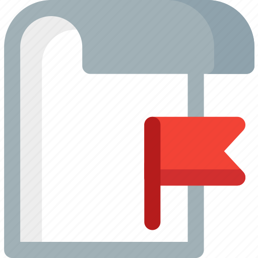 document, extension, file, flaged, folder, paper icon