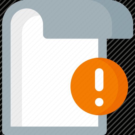 document, error, extension, file, folder, paper icon
