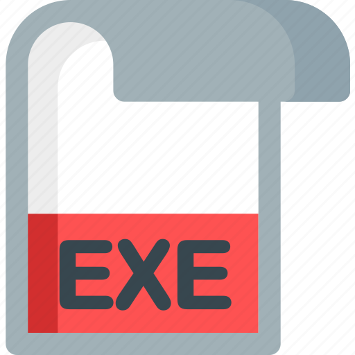 document, exe, extension, file, folder, paper icon