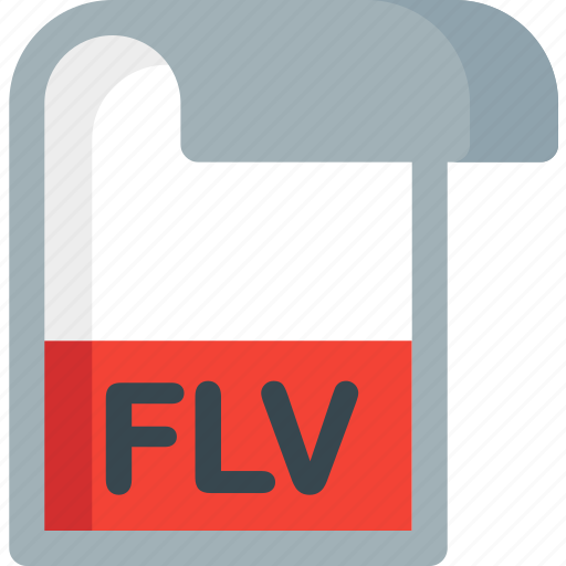 document, extension, file, flv, folder, paper icon