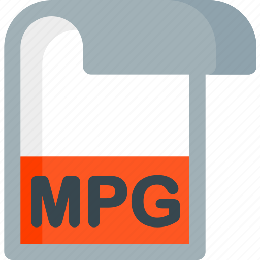 document, extension, file, folder, mpg, paper icon