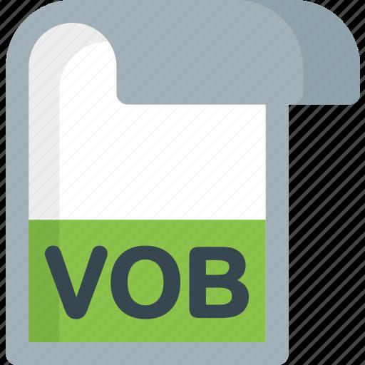 Vob, folder, paper, file, extension, document icon