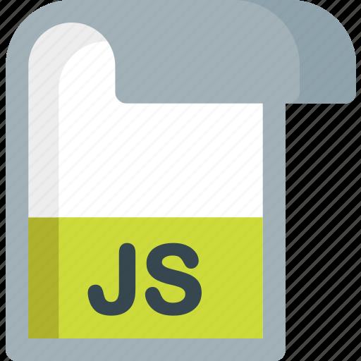 document, extension, file, folder, js, paper icon